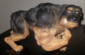 Xtreme muscle Rottweiler porcelain statue. for Sale in Riverbank, CA