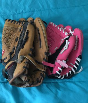 Baseball gloves for big hand and small hands for Sale in Austin, TX