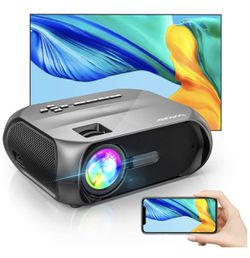 Wi-Fi Mini Outdoor Projector, Portable Projector for Outdoor Movies, Full HD 1080P Supported, Wireless Mirroring by WiFi / USB Cable, for iPhone/ Andr for Sale in North Bergen,  NJ