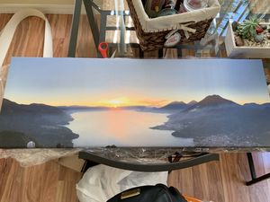 Canvas picture of Lake Atitlán, Guatemala for Sale in Fort Lauderdale, FL