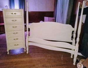 Bed frame and dresser for Sale in North Little Rock, AR