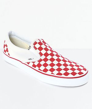 Red checkered vans for Sale in Plano, TX