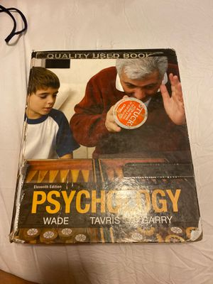 Wade Tavris Garry psychology text book for Sale in Jurupa Valley, CA