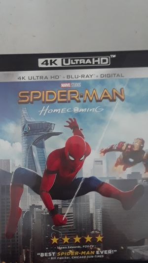 Spider-Man Homecoming 4K ULTRA HD + BLU-RAY for Sale in Chino, CA