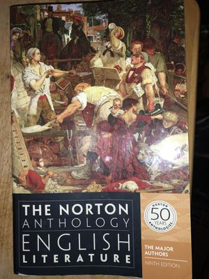 The Norton Anthology of English Literature for British Literature class for Sale in East Wenatchee, WA
