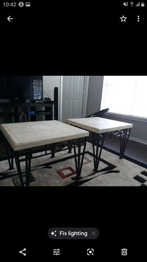 2 LIMESTONE END TABLES - $44 Each for Sale in Houston, TX