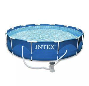 Intex 12ft x 30in Metal Frame Above Ground Pool WITH Filter Pump for Sale in Marietta, GA