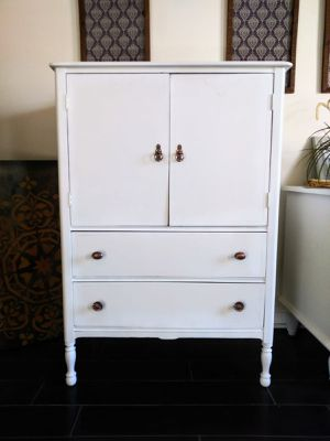 Armoire with drawers Painted white. for Sale in Whittier, CA