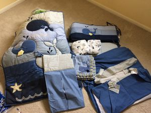 Whale themed crib bedding set for Sale in PA, US
