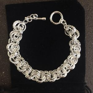 Sterling silver plated heavy chain bracelet for Sale in Silver Spring, MD