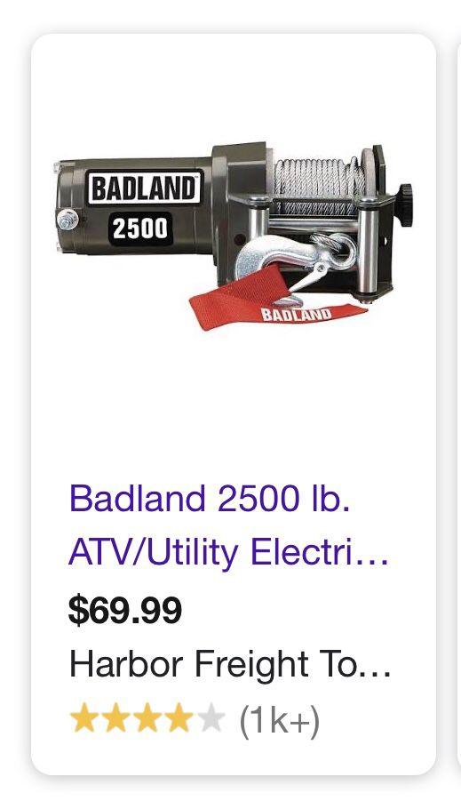 Band land 2500lb. capacity Winch