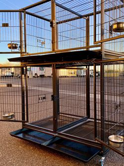 New HD dog kennel cage stack up lower,upper both in factory sealed📦 See dimensions in second and third picture🇺🇸 for Sale in Sun City,  AZ