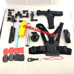 New 27 pc Gopro Action Camera Accessory Kit Chest Head Wrist Harness Float Selfie Stick Tripod for Sale in Riverside, CA