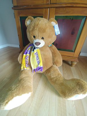 Brand New Lakers Large Stuffed Teddy Bear for Sale in Lake Elsinore, CA