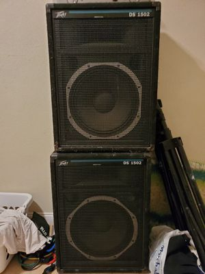 Peavey Speakers ds 1502 x2 w/stands + Samson amp servo 150 for Sale in Oakland Park, FL