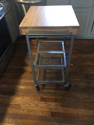 Wooden kitchen pushcart for Sale in Nashville, TN