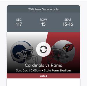 Arizona Cardinals vs Los Angeles Rams for Sale in Laveen Village, AZ