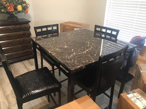 Black Table and Four High Chairs for Sale in Lake Worth, FL