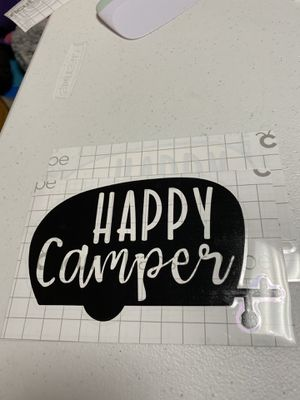 Happy Camper Vinyl Decal for Sale in Stokesdale, NC