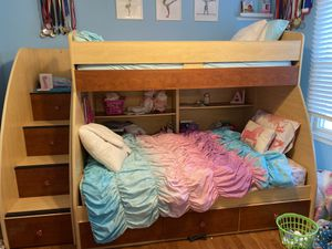 Bunk Beds and Dresser with Mirror for Sale in Howell Township, NJ