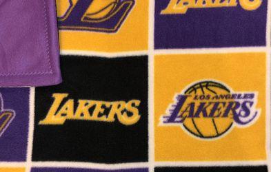 Los Angeles Lakers Fleece Throw/Lap Blanket for Sale in North Las Vegas,  NV
