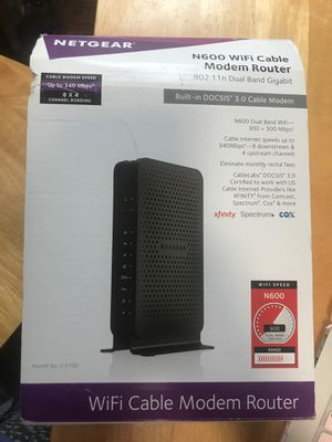 Netgear N600 WiFi Cable Modem Router works with xfinity spectrum and cox for Sale in Queens, NY