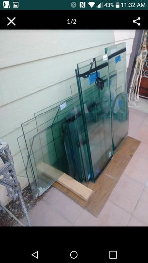 Various size GLASS TABLE TOPS or Glass Shelving for Sale in Las Vegas, NV