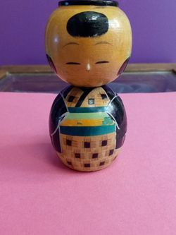 Vintage Japanese Wooden Bobble (Nodder) Kokeshi Doll for Sale in Troutdale,  OR