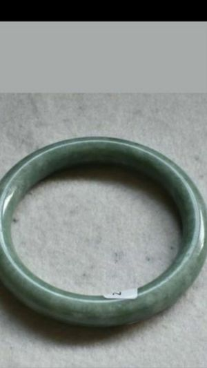 54.27mm Certified Natural green Jade Handmade Bracelet Bangle for Sale in Richmond, CA