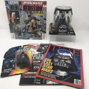Star Wars 500th Figure Darth Vader Toys Comics & Magazine Bundle for Sale in Bellevue, WA