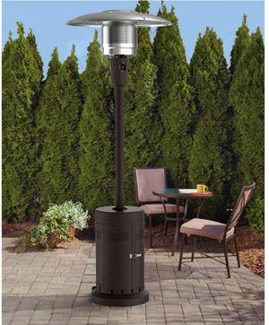 Large Outdoor Patio Heater 40k BTU, Powder Coat Brown great for parties bbq grill for Sale in Rosemead, CA