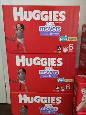 Nuevos Pañales Huggies Baby Diapers Little Movers size 6 : Each Box $49 Firm for Sale in Los Angeles, CA