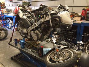 PARTING OUT: BMW Motorcycle 2005 F650CS Wheel Rim ABS Brake Caliper Speedometer ECU Motor Engine Stator Rotor Flywheel for Sale in Fontana, CA