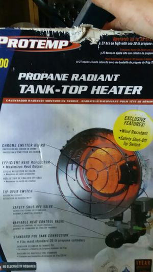 Protemp tank top heater for Sale in Parkersburg, WV