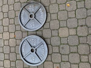 1 pair 45lb weight plates - 90 lbs total for Sale in Hoffman Estates, IL