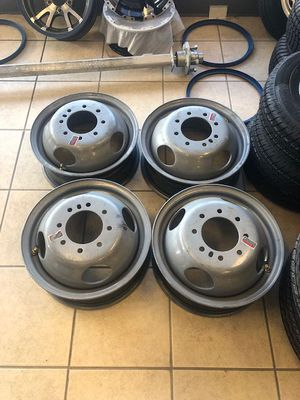 """16"""" Trailer Dual Wheel 8 Lug (8x6.5) Bolt Circle 4.77 and 4.88 - Trailer rim 16"""" 8 lug dual - trailer - we carry all trailer tires and trailer rims for Sale in Plant City, FL"""