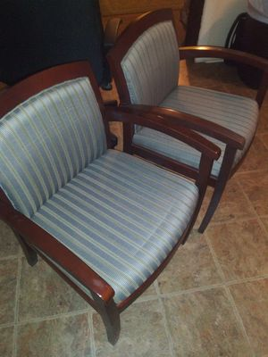 TWO NICE MATCHING LOBBY CHAIRS for Sale in Tampa, FL