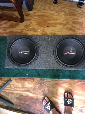 """Audiocraft speaker box with 12"""" audiobahn speakers for Sale in Osteen, FL"""