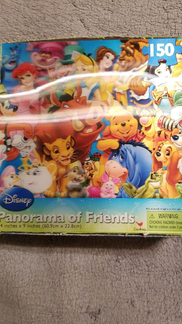 Disney, Panorama of Friends, 150 Piece Puzzle