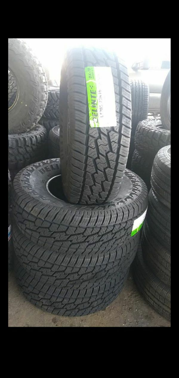 285 75 16 LT 10ply tires $550