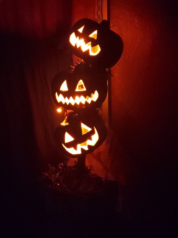 Halloween Lighted Jack o lantern topiary