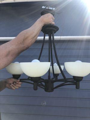 Six bulb metal chandelier for Sale in Redondo Beach, CA