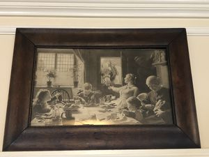 Vintage Farm House Dinner Painting for Sale in Durham, CT