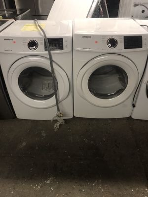 Brand new open box Samsung washer and dryer set stainless steel and white sets available!!! Warranty !!we deliver!! for Sale in Philadelphia, PA