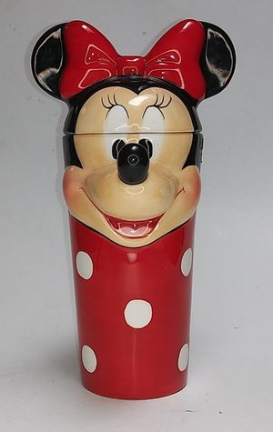 """Disney Minnie Mouse Tall Mug with Ears Lid 7.5"""" Very Rare Collectible. for Sale in El Paso, TX"""