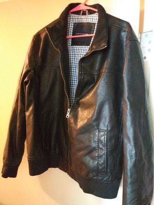 Hilfiger Black Leather Jacket for Sale in San Diego, CA