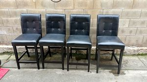 Four Black Leather Chairs for Sale in Fresno, CA