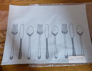 """Set of 8 Threshold Table Placemat 19""""x14"""" Utensils Placemat Stripe Cotton Linen for Sale in Jeffersontown, KY"""