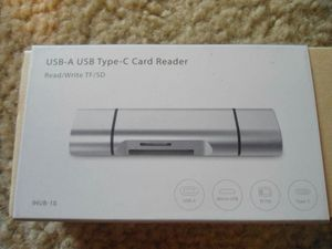 USB-C to TF/SD card reader for Sale in Portsmouth, VA