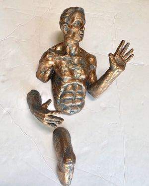 Firm on price 💥Man on the wall set of 2 men • men statues • wall decor sculptures • $35 SET for Sale in Seattle, WA